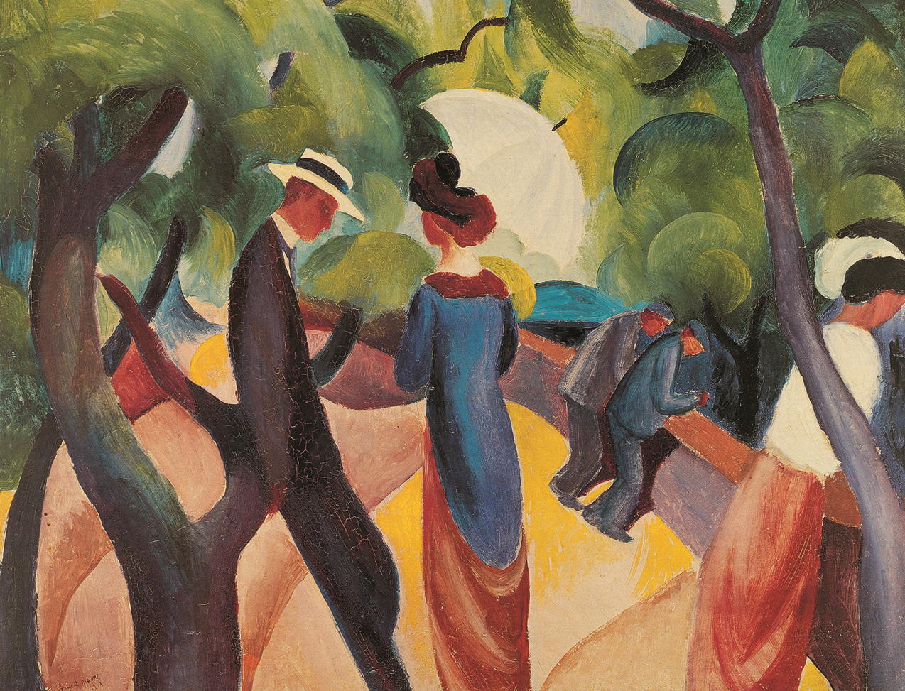 "Kunstdruck ""Promenade"" August Macke"