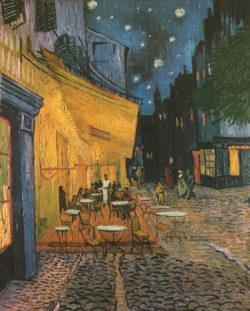 """Kunstdruck """"Cafeterrasse bei Nacht"""" von Vincent V. Gogh"""