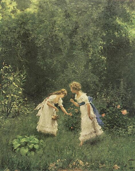 DD-001 Maedchen in einem Garten_RL