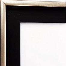 Schattenfuge Ecke schwarz mit Silber