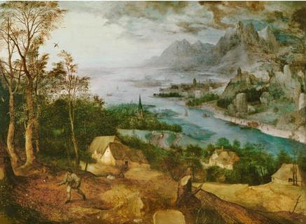 BR-018 Flusslandschaft mit einem Saemann