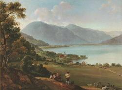 "Kunstdruck ""Der Tegernsee"" Johann Georg Dillis"