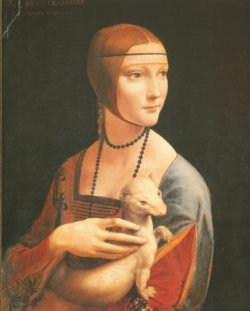 """Kunstdruck Die Dame mit dem Hermelin"""" von Leonardo da Vinci"""