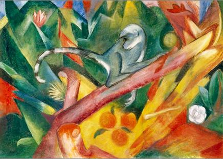 """Kunstdruck """"Affe"""" von Franz Marc"""