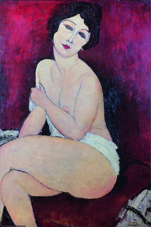 MO-001 Sitzenedes Nacktbild