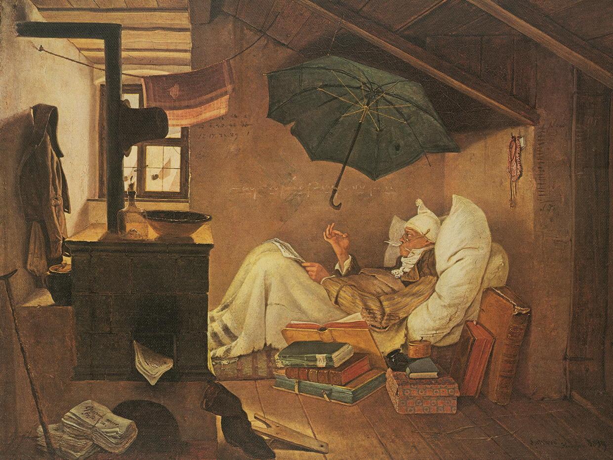 """Kunstruck """"Der arme Poet"""" von Carl Spitzweg"""