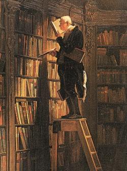 """Kunstdruck """"Der Bücherwurm"""" von Carl Spitzweg"""