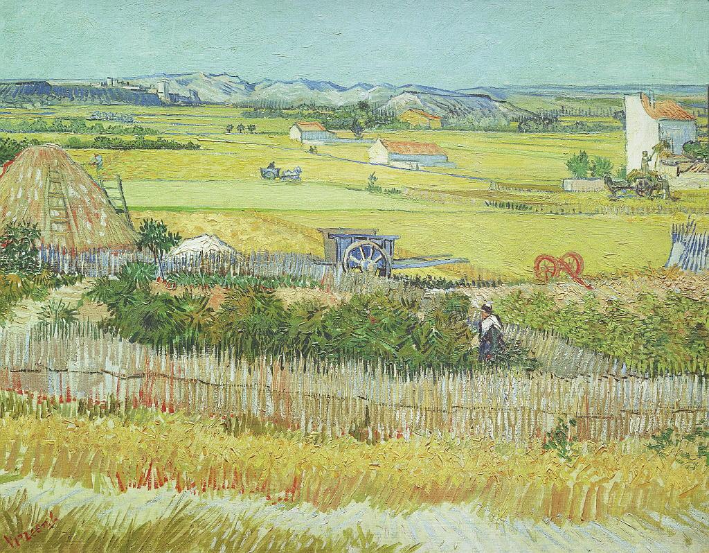 "Kunstdruck ""The Reaping at La Crau"" Vincent van Gogh"