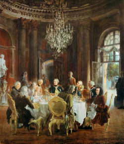 """Kunstdruck """"König Friedrichs Tafelrunde"""" von Menzel"""