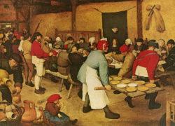 """Kunstdruck """"Die Bauernhochzeit"""" vo Pieter Brueghel d. Ä."""