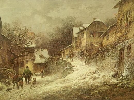 BUR-001 Winterliche Dorfstrasse in Kronberg_RL