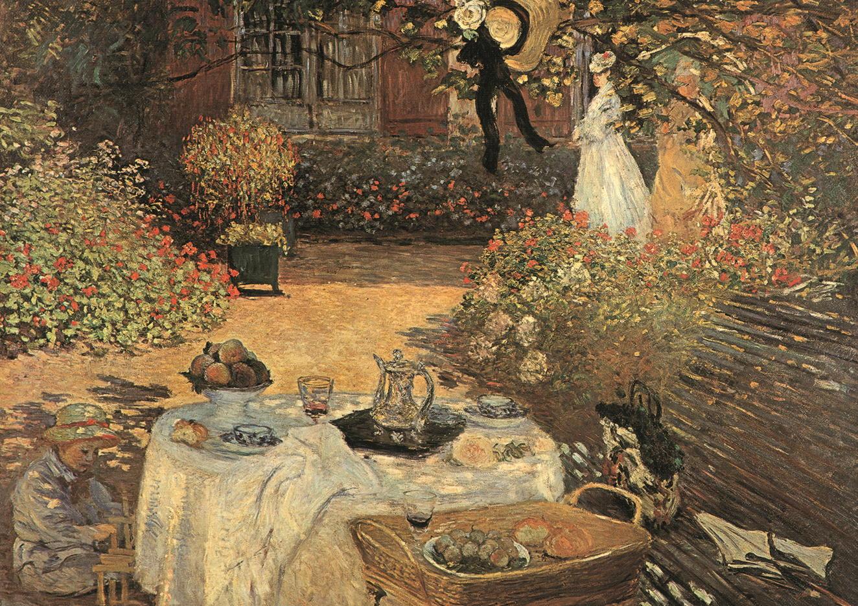 """Kunstdruck """"Das Frühstück"""" von Claude Monet"""