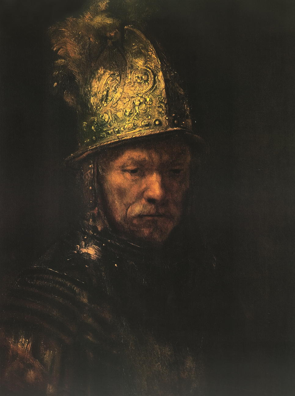 kunstdruck der mann mit dem goldhelm von rembrandt