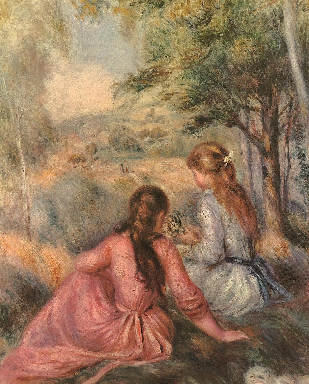 """Kunstdruck """"Zwei Mädchen auf einer Wiese"""" von Renoir"""