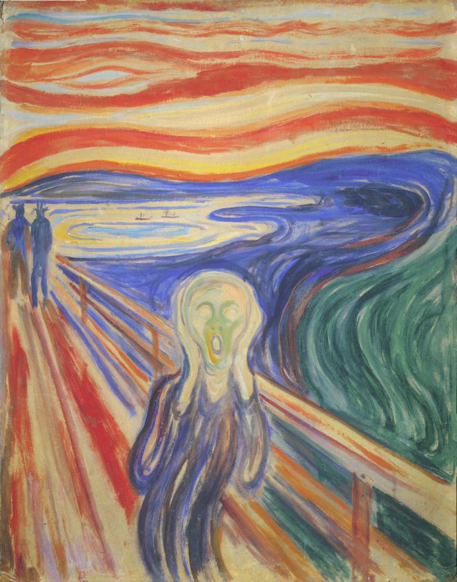 """Kunstdruck """"Der Schrei"""" Edvard Munch"""