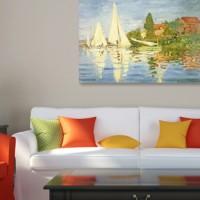 """Kunstdruck """"Regatta- bei Argenteuil"""" von Claude Monet Retro"""