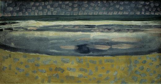 "Piet Mondrian ""Meer bei Sonnenuntergang"" 80 x 42 cm 1"