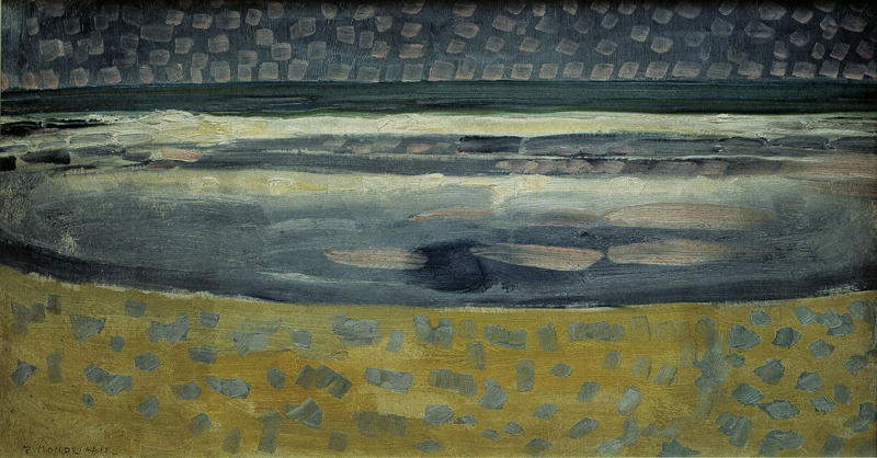 "Piet Mondrian ""Meer bei Sonnenuntergang"" 80 x 42 cm"