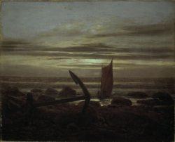 """Caspar David Friedrich """"Abend an der Ostsee""""  31 x 25 cm"""