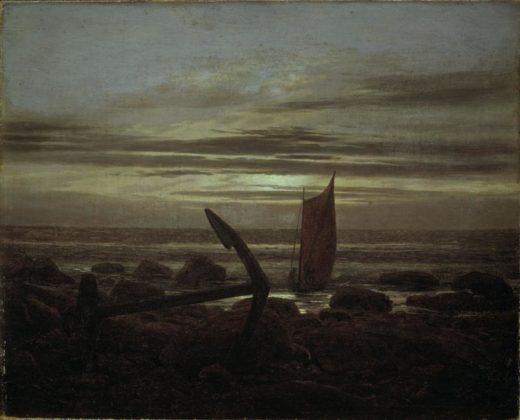 """Caspar David Friedrich """"Abend an der Ostsee""""  31 x 25 cm 1"""