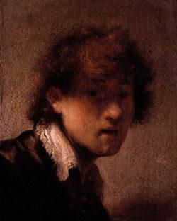 """Rembrandt """"Rembrand-Selbstbildnis-in-jungen-Jahren"""" 23.4 x 17.2 cm"""
