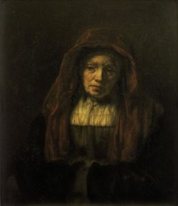 """Rembrandt """"Alte-Frau-mit-Kopftuch"""" 74 x 63 cm"""