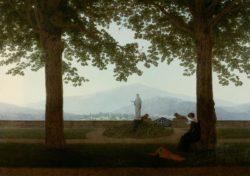 """Caspar David Friedrich """"Gartenterrasse""""  70 x 53 cm"""