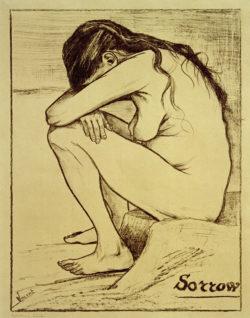 "Vincent van Gogh ""Sorrow"" (Trauer) 39,2 x 29,2 cm"