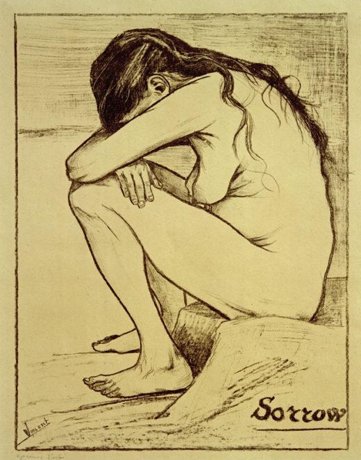 "Vincent van Gogh ""Sorrow"" (Trauer) 39,2 x 29,2 cm 1"