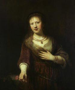 """Rembrandt """"Saskia-mit-der-roten-Blume"""" 98.5 x 82.5 cm"""