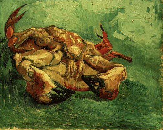 """Vincent van Gogh """"Auf dem Ruecken liegender Krebs"""", 38 x 46,5 cm 1"""
