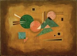 "Wassily Kandinsky ""Fusing Pink"" 55 x 40 cm"