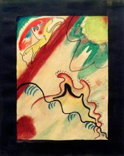 """Wassily Kandinsky """"Entwurf Umschlag des Almanachs Der Blaue Reiter"""" 22 x 27 cm"""