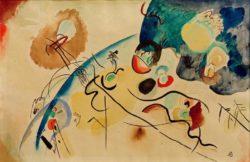 "Wassily Kandinsky ""Komposition Mit Trojka Motiv"" 48 x 31 cm"