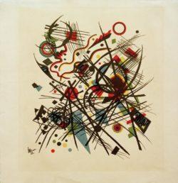 "Wassily Kandinsky ""Komposition"" 24 x 27 cm"
