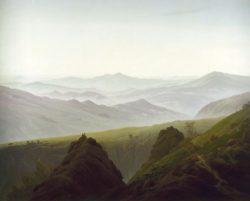 """Caspar David Friedrich """"Der Morgen im Gebirge""""  170 x 135 cm"""