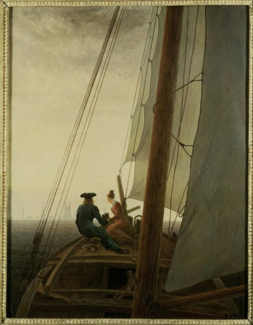 "Caspar David Friedrich ""Auf dem Segler""  56 x 71 cm 1"