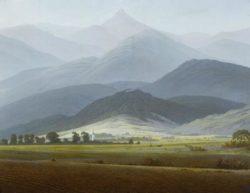 """Caspar David Friedrich """"Riesengebirgslandschaft""""  58 x 45 cm"""