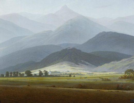"""Caspar David Friedrich """"Riesengebirgslandschaft""""  58 x 45 cm 1"""