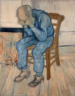"""Vincent van Gogh """"Trauernder alter Mann"""", 81 x 65 cm"""