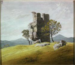 "Caspar David Friedrich ""Turmruine""  21 x 18 cm"