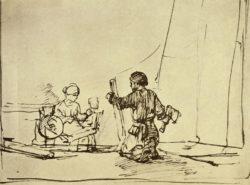 """Rembrandt """"Die-Heilige-Familie-in-der-Werkstatt"""" 173 x 227 cm"""