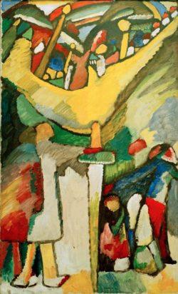 "Wassily Kandinsky ""Improvisation"" 73 x 125 cm"