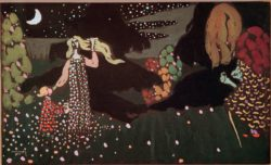 "Wassily Kandinsky ""Die Nacht"" 50 x 29 cm"