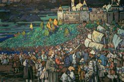 "Wassily Kandinsky ""Ankunft Der Kaufleute"" 135 x 92 cm"