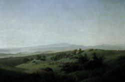 """Caspar David Friedrich """"Landschaft mit See""""  102 x 68 cm"""