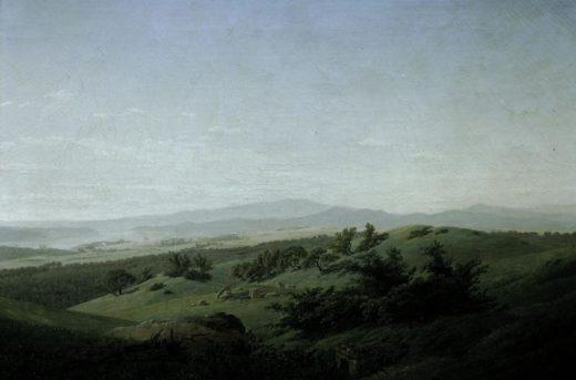 """Caspar David Friedrich """"Landschaft mit See""""  102 x 68 cm 1"""