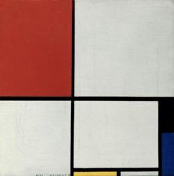 """Piet Mondrian """"Komposition in Rot Gelb und Blau"""" 45 x 45 cm"""