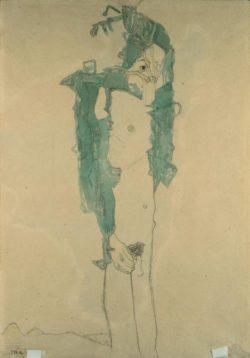 """Egon Schiele """"Schlafender Knabe"""" 31 x 45 cm"""