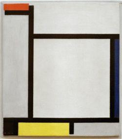 """Piet Mondrian """"Komposition mit Rot Blau Schwarz Gelb und Grau"""" 39 x 35 cm"""
